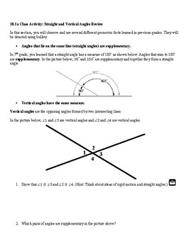 8th Grade Angles and Triangles