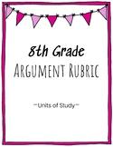 8th Grade Argument Writing Rubric