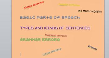 8th Grade Basic Language Arts Grammar Test