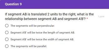 8th Grade Basic Rigid Motions Google Forms Assessment