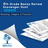 8th Grade Basics Review Scavenger Hunt