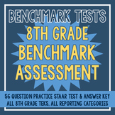 8th Grade Benchmark Assessment - 56 Questions + Answer Key