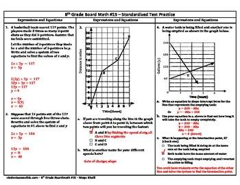 8th-Grade Board Math #15 - Standardized Test Practice