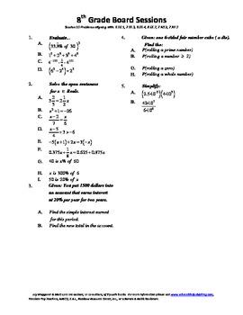 8th Grade Board Session 10,Common Core,Review,Math Counts,Quiz Bowl