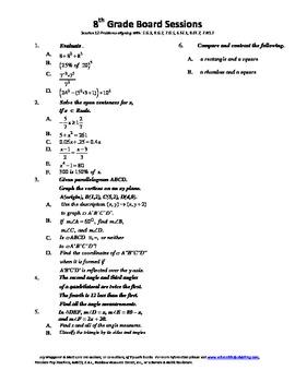 8th Grade Board Session 12,Common Core,Review,Math Counts,Quiz Bowl