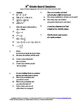 8th Grade Board Session 17,Common Core,Review,Math Counts,Quiz Bowl