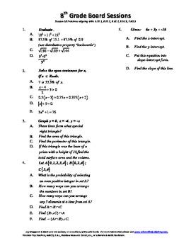 8th Grade Board Session 18,Common Core,Review,Math Counts,