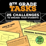8th Grade Math Tasks Bundle
