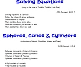 8th Grade CCS Math Songs