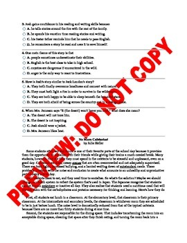 8th Grade ELA CCSS Benchmark Assessment