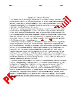 8th Grade CCSS Evaluating Arguments Assessment Bundle RI.8