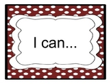 """8th Grade CCSS """"I Can"""" Statements"""