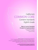 8th Grade Ca Common Core Content Standards with Prompts fo