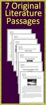 Grade 8 Close Reading Literature Bundle Print AND Paperless - Google Ready!