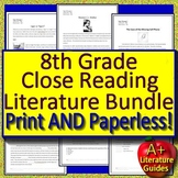 8th Grade Close Reading: 7 Narrative Passage and Question Sets - Google Ready!