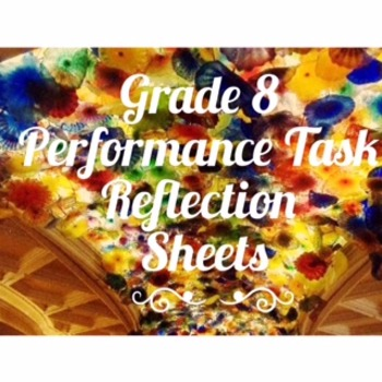 8th Grade Code X Performance Task Reflection Sheets