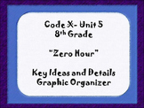 8th Grade Code X Unit 5:  Zero Hour Key Ideas and Details