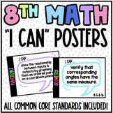 8th Grade Common Core (CCSS) Math Posters