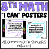8th Grade Math Common Core State Standards Math Posters |