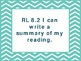 """8th Grade Common Core ELA """"I Can"""" Statements/Learning Targets (Chevron)"""