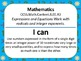 "8th Grade Common Core ""I Can"" Statements for Mathematics"