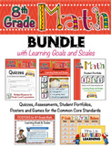 8th Grade Math Bundle with Marzano Learning Goals and Scales