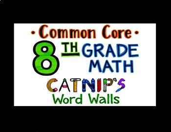 8th Grade Common Core Math Flash Cards