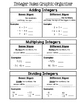 Math 8 Guided Interactive Math Notebook Page: Integer Rules Graphic Organizer