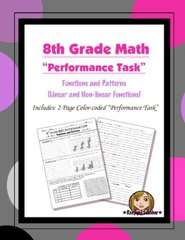 8th Grade Common Core Math [Performance Task] ~ Functions and Patterns