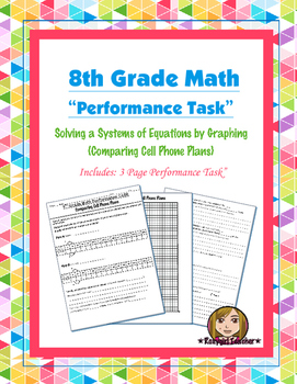 8th Grade Common Core Math [Performance Task] ~ Systems of