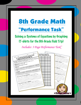 8th Grade Common Core Math [Performance Task] ~ Systems of Equations (2)
