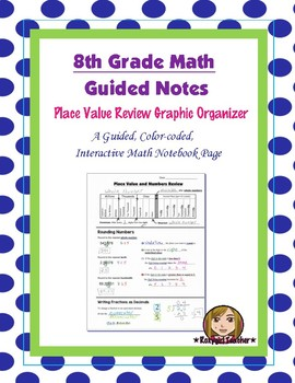 Math 8 Guided Interactive Math Notebook Page: Place Value