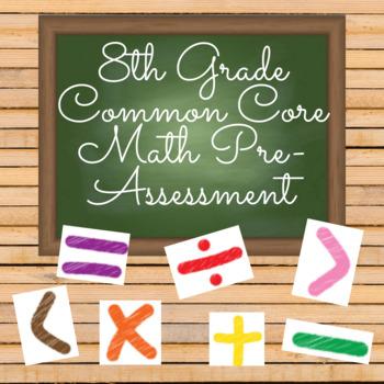 8th Grade Common Core Math Pre-Assessment