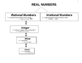 8th Grade Common Core Math- Real Numbers Graphic Organizer