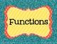 8th Grade Common Core Math Standards Posters- Bright Glitter!