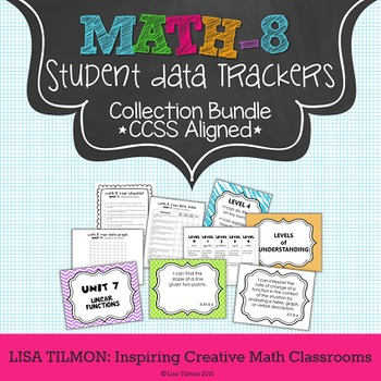 8th Grade Common Core Math Student Data Tracking Collection Bundle