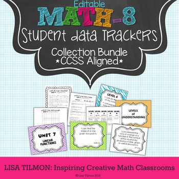 8th Grade Common Core Math Student Data Tracking Collection Bundle (EDITABLE)