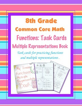 8th Grade Common Core Math [Task Cards]  ~ Multiple Repres