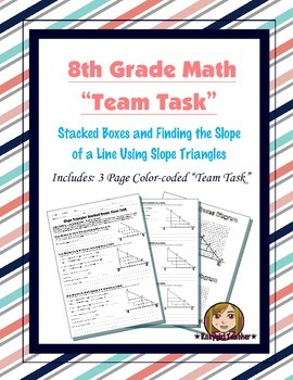 8th Grade Common Core Math {Team Task} ~  - Slope Triangles