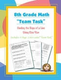 8th Grade Common Core Math {Team Task} ~ Finding the Slope of a Line: Rise/Run