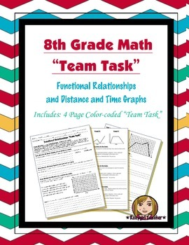 8th Grade Common Core Math {Team Task} ~ Functional Relationships