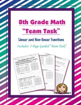 8th Grade Common Core Math {Team Task} ~ Linear and Non-li