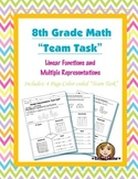 8th Grade Common Core Math {Team Task} ~ Multiple Representations