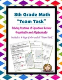 8th Grade Common Core Math {Team Task} ~ Systems of Equations Review