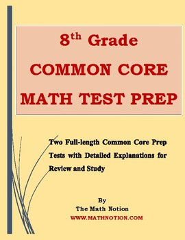 8th Grade Common Core Math Tests Prep