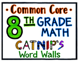 8th Grade Common Core Math Word Wall