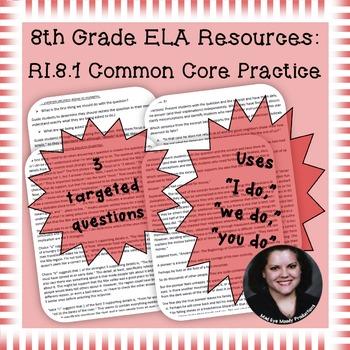 8th Grade Common Core Practice - RI.8.1 - 3-5 mini-lessons