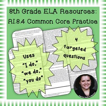 8th Grade Common Core Practice - RI.8.4 - 3-5 mini-lessons