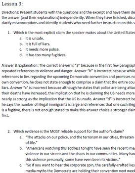 8th Grade Common Core Practice - RI.8.8 - 3-5 mini-lessons