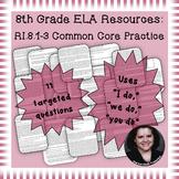 8th Grade Common Core Practice RI1 RI2 RI3 Key Ideas and Details Cluster